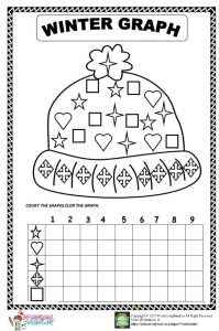 winter graph worksheet for preschool