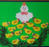 chick bulletin board idea