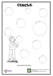 circle trace worksheet