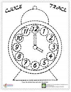 clock trace line worksheets