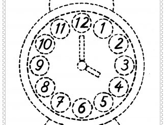 clock trace line worksheets