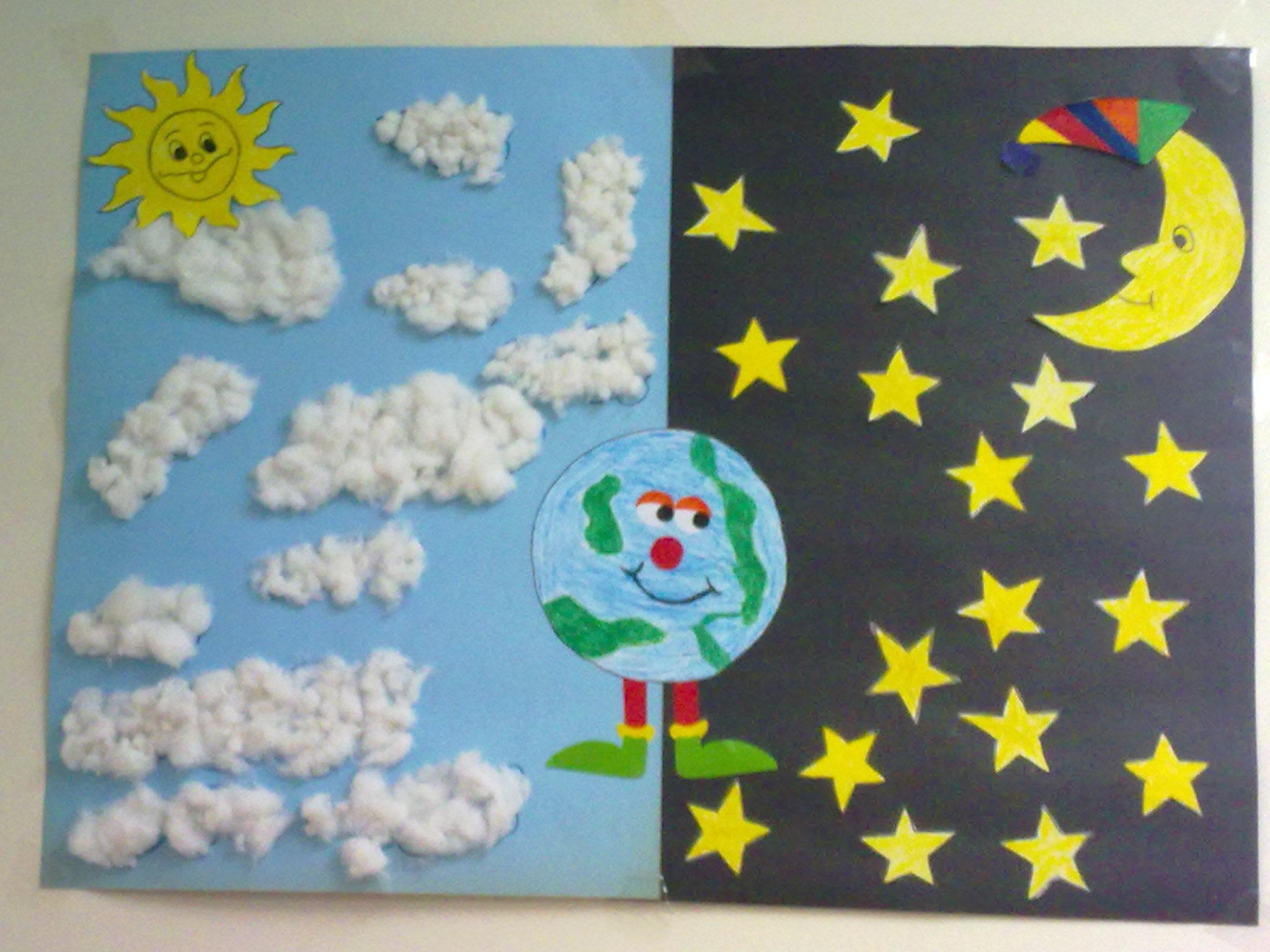 Картинки день ночь для детей 3-4 лет, днем