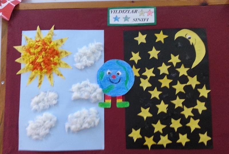 day&night bulletin- board idea for kindergarten