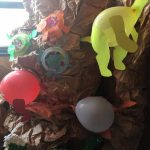 recycled dinosaur craft