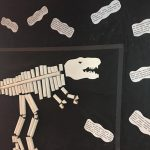 toilet paper roll dinosaur skeleton craft