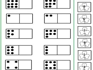 Shamrock number matching worksheet