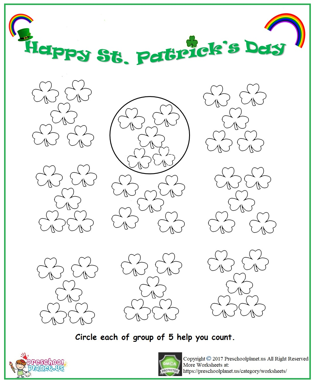 St. Patrick's day grouping worksheet
