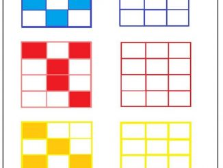 Visual perception worksheet for kids