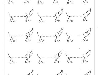 dog trace line worksheet for kids