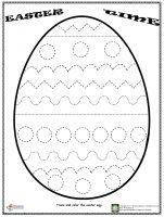 easter egg trace worksheet