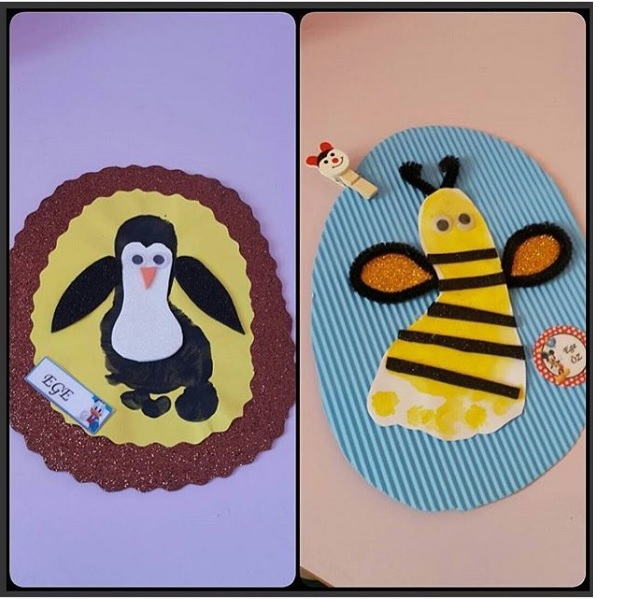 footprint animals craft