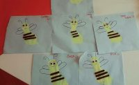 footprint bee craft