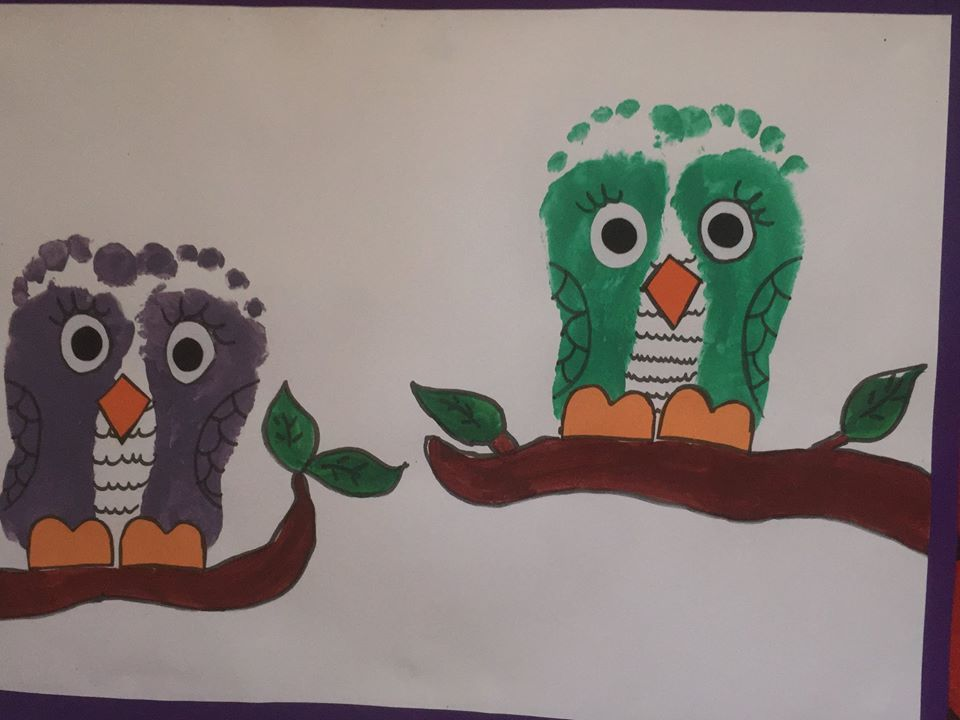 footprint owl craft
