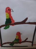 footprint parrot craft