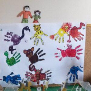 handprint animals craft idea