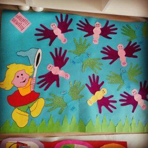 handprint butterfly bulletin board idea