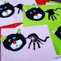 handprint cat craft idea