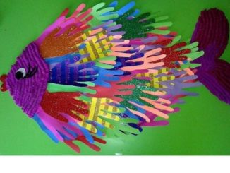 handprint fish craft idea (2)