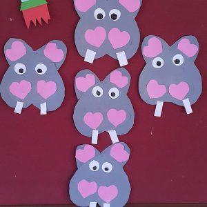 heart hippo craft idea