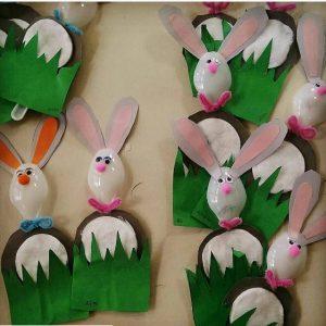 makeup cotton bunny craft