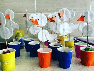 makeup cotton stork craft