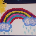rainbow bulletin board idea for kids (1)