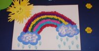 rainbow bulletin board idea for kids (1)