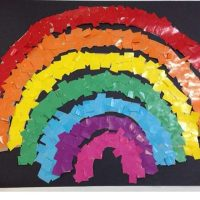rainbow bulletin board idea for kids (2)