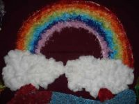 rainbow bulletin board idea for kids (3)