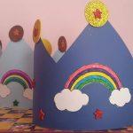 rainbow hat craft idea