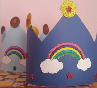 rainbow hat craft idea