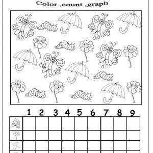 spring graph worksheet for kids