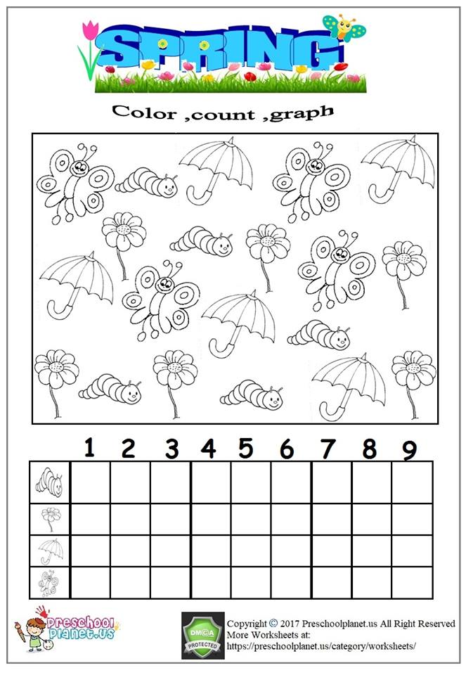 spring graph worksheet for kids
