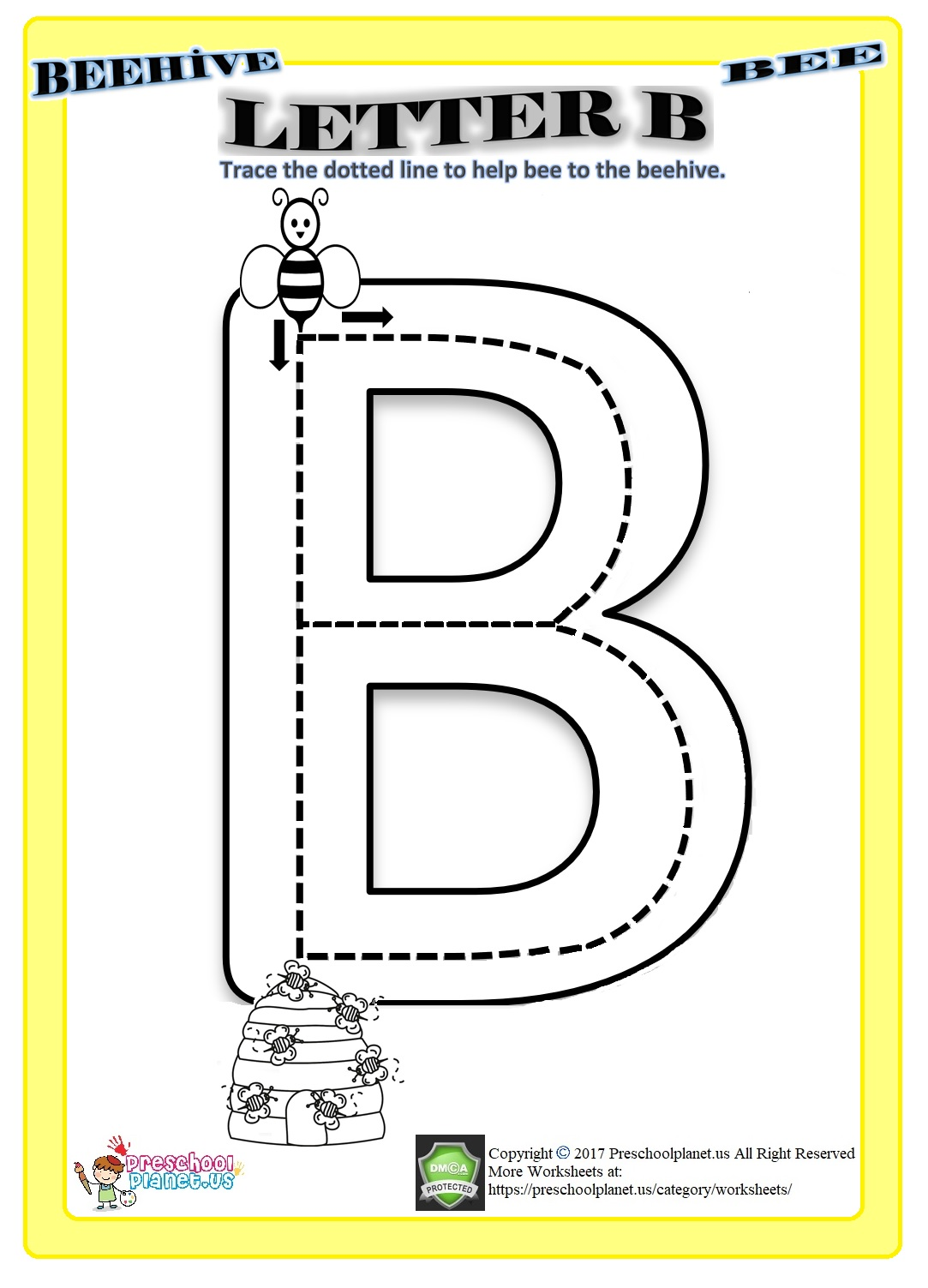 b letter worksheet