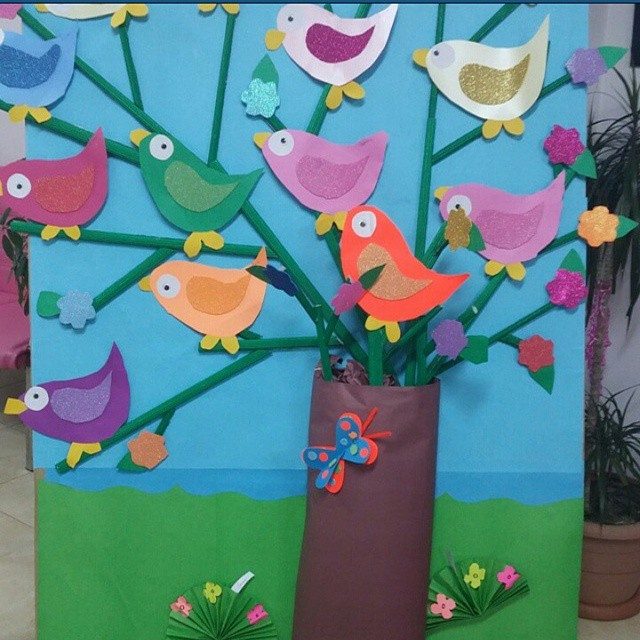 bird bulletin board idea