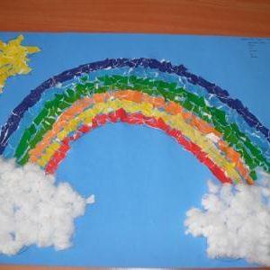 free rainbow craft idea