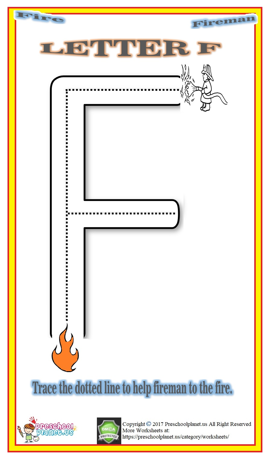letter f worksheet for kids