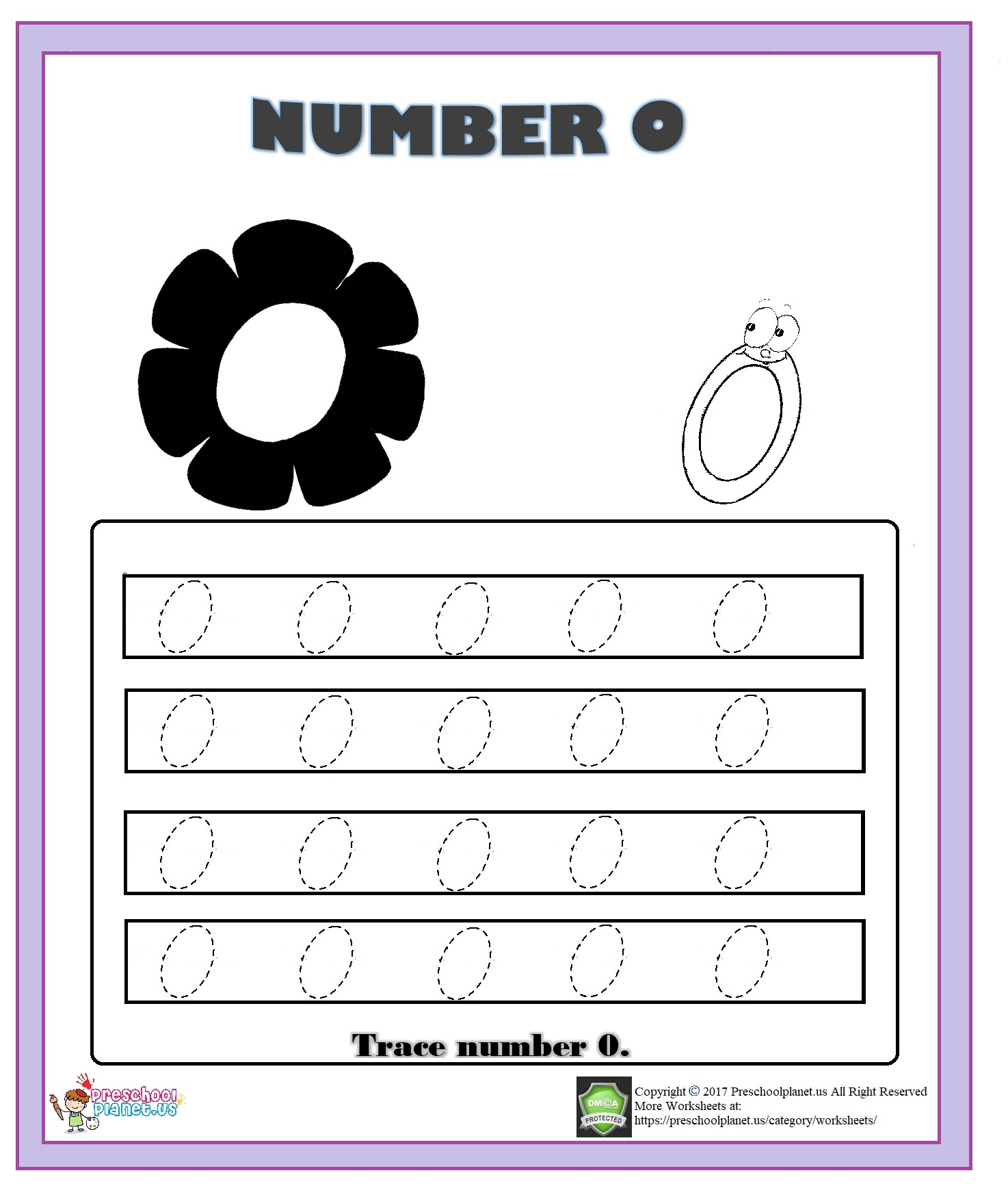 number 0 trace worksheet