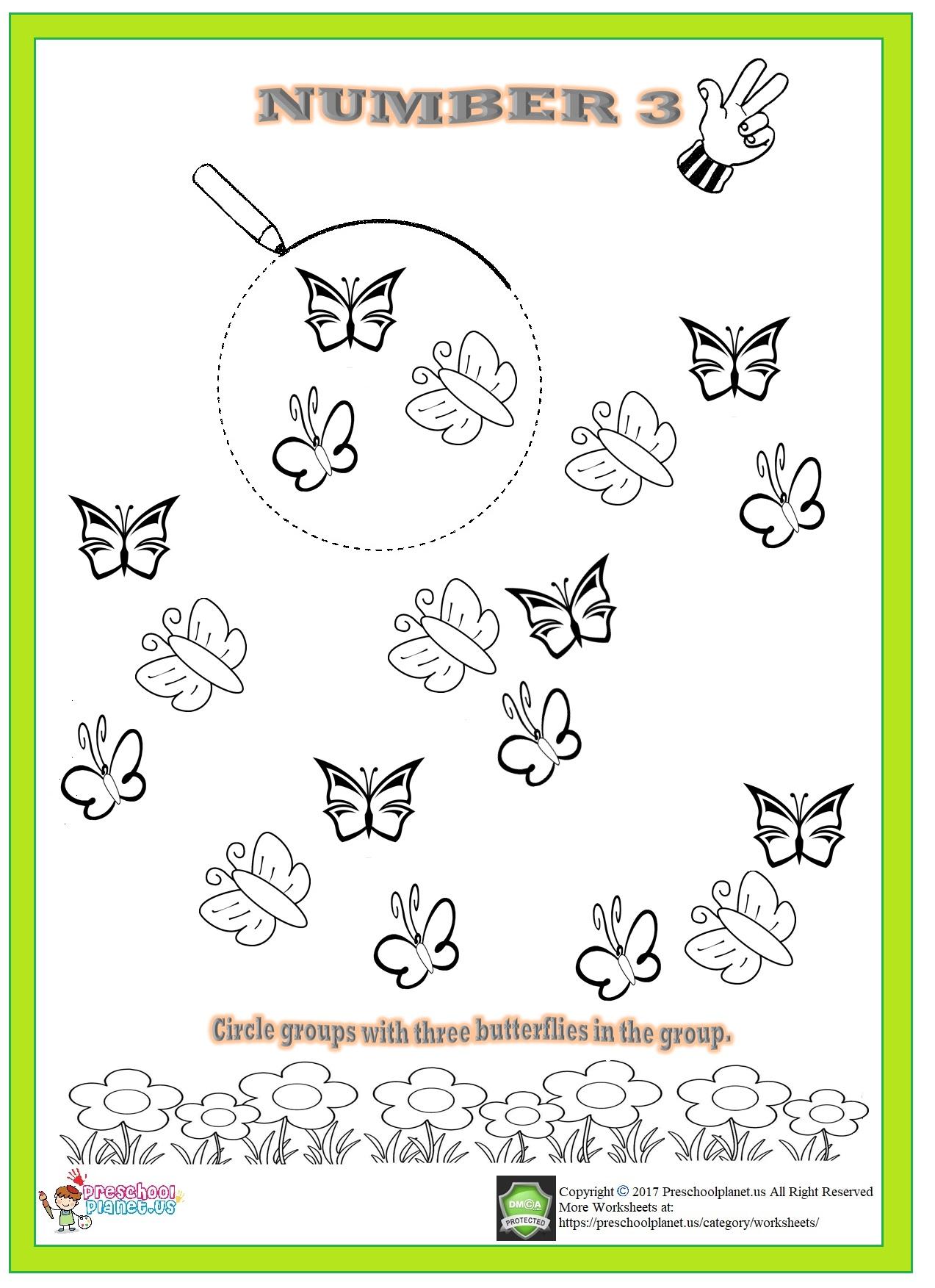 Number 3 Worksheet For Kindergarten on Life Cycle Of A Flower Worksheet
