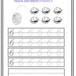 number 6 worksheet for kindergarten