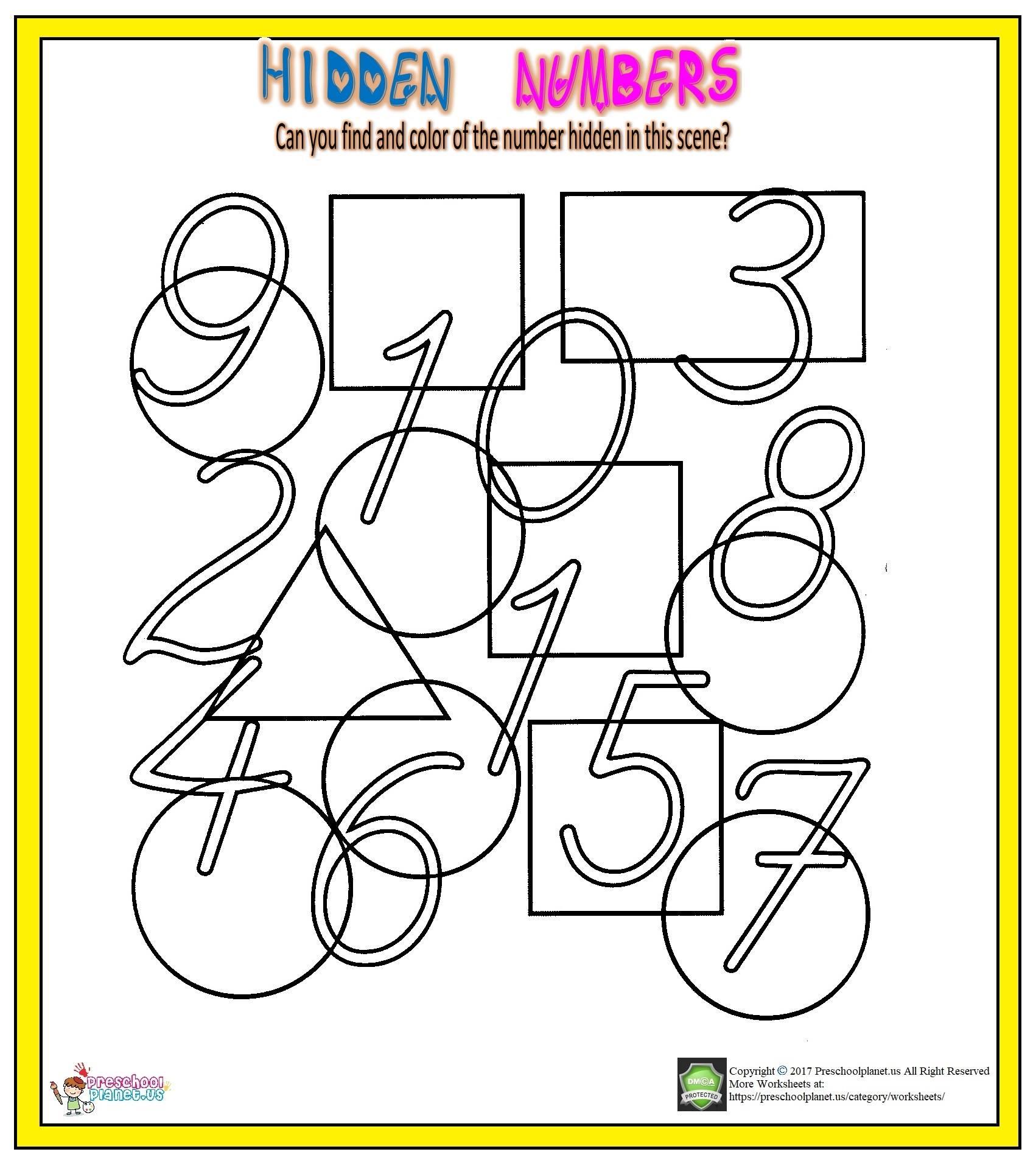 number hunt worksheet for kids