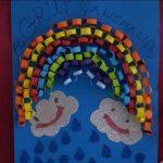 rainbow bulletin board idea for kindergarten