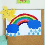 rainbow bulletin board idea for preschoolers