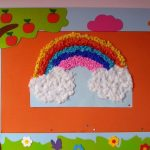rainbow bulletin board idea for toddler