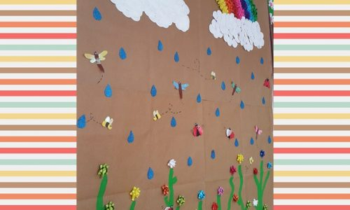 spring bulletin board idea for preschool