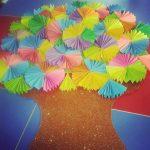 spring tree bulletin board idea