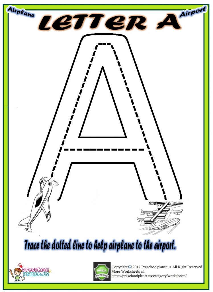 worksheet letter a