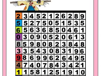 Number matching worksheet