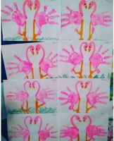 handprint-flamingo-craft-idea-for-kids