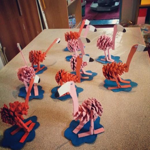 pine-cone-flamingo-craft-idea